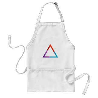 Abstract triangle adult apron