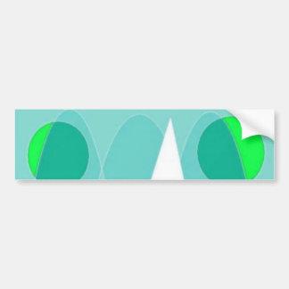 Abstract Triangle Car Bumper Sticker