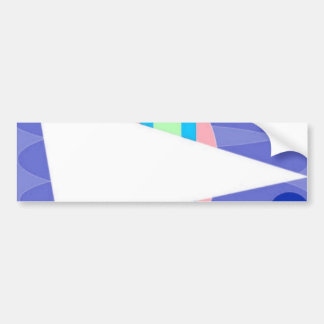 Abstract Triangle Car Bumper Sticker