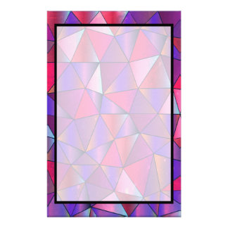 Abstract Triangle Design Stationery