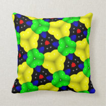 Abstract Triangle Geometrical Multicolored Throw Pillow