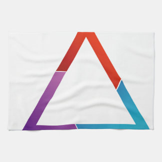 Abstract triangle hand towel