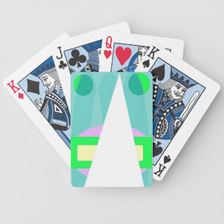 Abstract Triangle Pastels Playing Cards