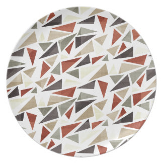 Abstract Triangle Pattern Plates