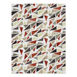 Abstract Triangle Pattern Poster