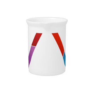 Abstract triangle pitcher
