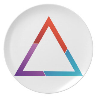 Abstract triangle dinner plate