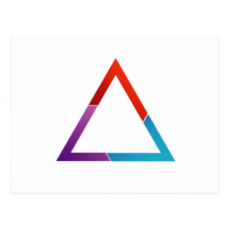 Abstract triangle postcard