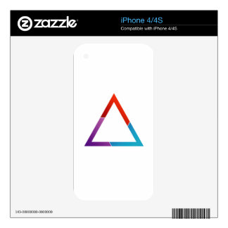 Abstract triangle skin for iPhone 4S
