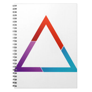 Abstract triangle spiral notebook