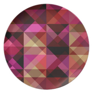 abstract triangle texture plate