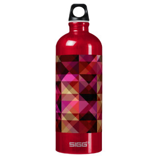 abstract triangle texture water bottle