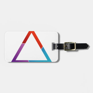 Abstract triangle travel bag tag