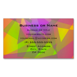 Abstract Triangles and Rectangles Business Card Magnet