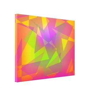 Abstract Triangles and Rectangles Canvas Print
