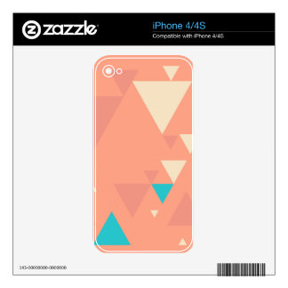 Abstract Triangles Decals For The iPhone 4S