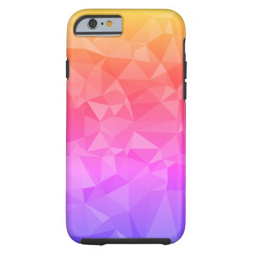 Abstract Triangles Geometric Colorful Pattern Tough iPhone 6 Case