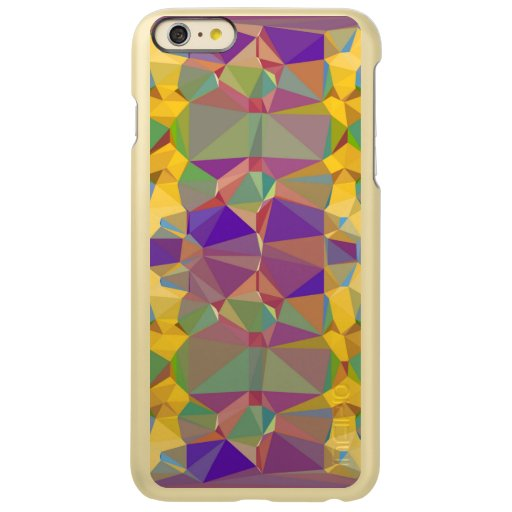 abstract Triangles Geometric Colorful Pattern Incipio Feather Shine iPhone 6 Plus Case