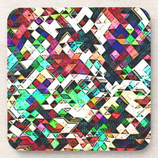 Abstract Triangles Graphic Coaster