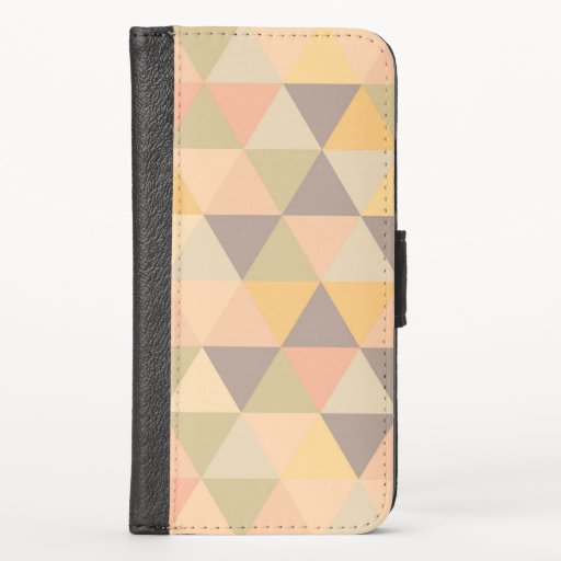 Abstract Triangles Modern Fade Geometric Pattern i iPhone X Wallet Case