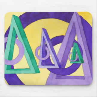 Abstract Triangles Mouse Pad