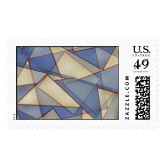 Abstract Triangles Postage