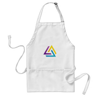 Abstract triangular colorful design element adult apron