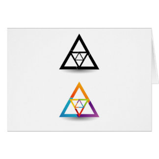 Abstract triangular colorful design element card