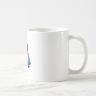 Abstract triangular colorful design element coffee mug