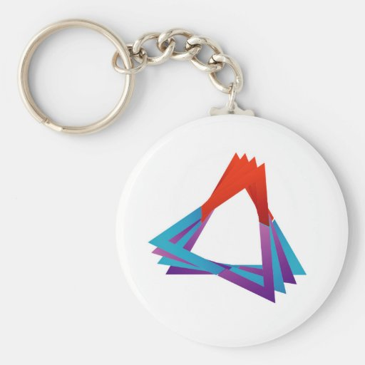 Abstract triangular colorful design element keychain