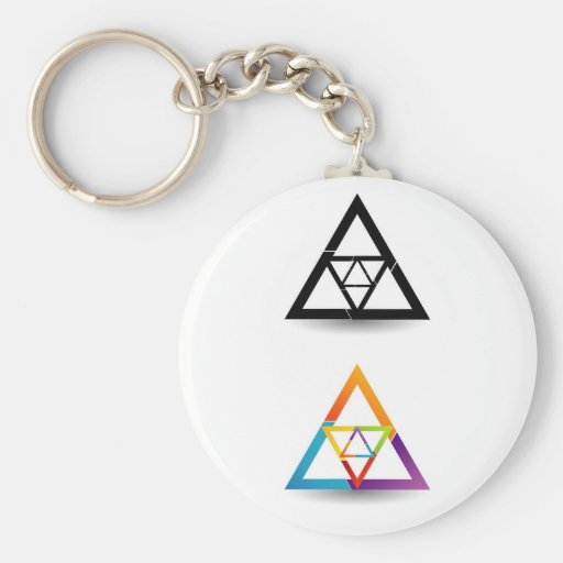 Abstract triangular colorful design element key chains