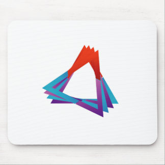 Abstract triangular colorful design element mouse pad