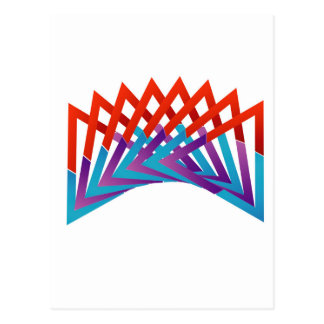 Abstract triangular colorful design element postcard