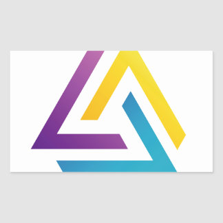 Abstract triangular colorful design element rectangular sticker