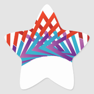 Abstract triangular colorful design element star sticker