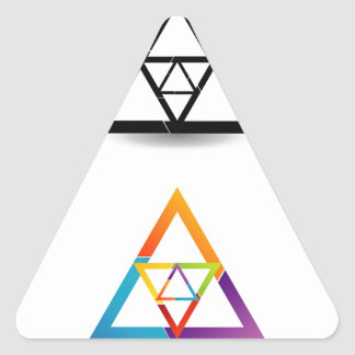 Abstract triangular colorful design element triangle sticker