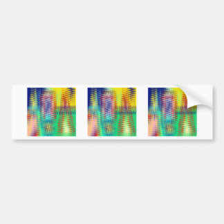 Abstract triangular waves bumper sticker