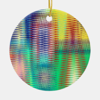 Abstract triangular waves ceramic ornament