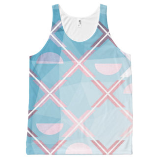 Abstract triangulate XOX Design All-Over-Print Tank Top
