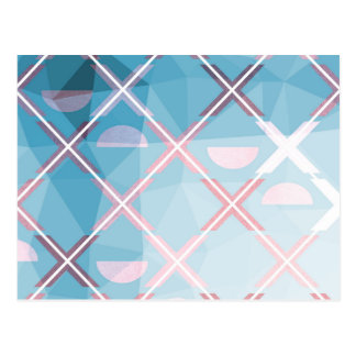 Abstract triangulate XOX Design Postcard