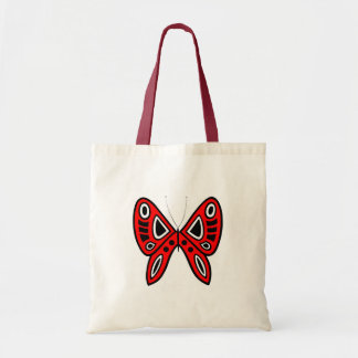 Abstract Tribal Butterfly Design Budget Tote Bag