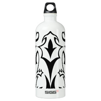 Abstract tribal celtic design water bottle