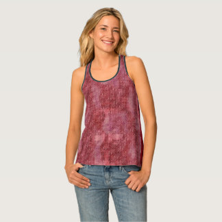 Abstract Tribal Dark Red Maroon Grunge Tank Top