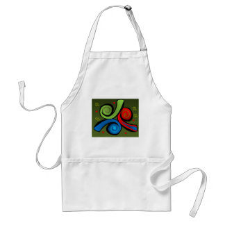 Abstract Tribal Design Colorful Expression Adult Apron