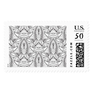 Abstract Tribal Doodle Postage