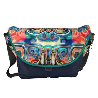 Abstract Tribal Mandala Courier Bag