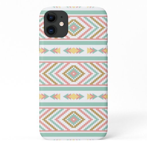 Abstract Tribal Native Geometric Pattern iPhone 11 Case