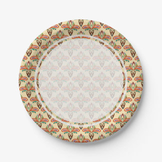 Abstract Tribal Pattern Paper Plate