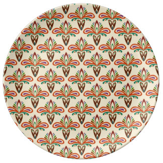 Abstract Tribal Pattern Plate