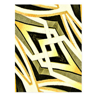 Abstract Tribal Style Geometric Pattern Postcard